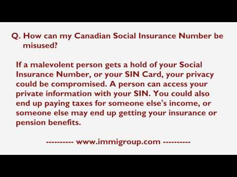 How can my Canadian Social Insurance Number be misused?