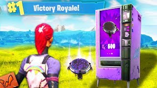 BUYING A Launch Pad AND Winning Fortnite Vending Machine Update Battle Royale