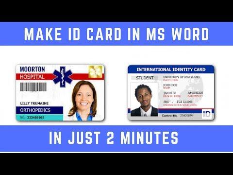 Make ID Card in MS Word Hindi ✅