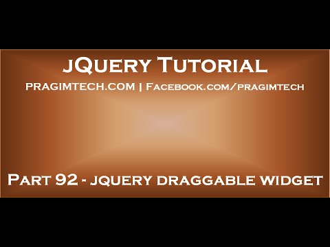 jquery draggable widget