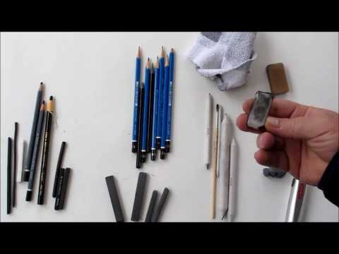Free Drawing Class: Materials Used in Drawing