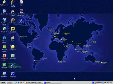 Windows Tips and Tricks -  Set World Clock as Desktop Wallpaper