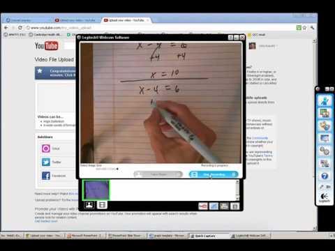 YouTube Videos with a Webcam or a Tablet - Robichaud - April 2012 Pearson Webinar.wmv