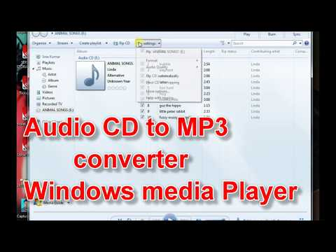 Simple Audio CD to MP3 converter used by Windows media player