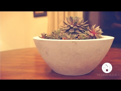 DIY Modern Concrete Bowl Planter | Modern Builds | EP. 1