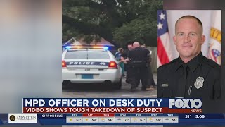 MPD Officer On Desk Duty After Tough Takedown Of Suspect