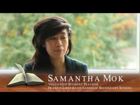 Faith in Our Future - Catholic School Alumna - Samantha Mok - Volunteer Teacher