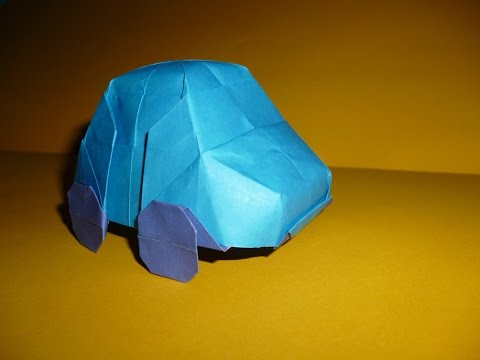 Origami Car (Vw Bug) Instructions (Charles Esseltine)