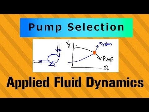 Pump Selection (Step 1 of 5) - Applied Fluid Dynamics - Class 053