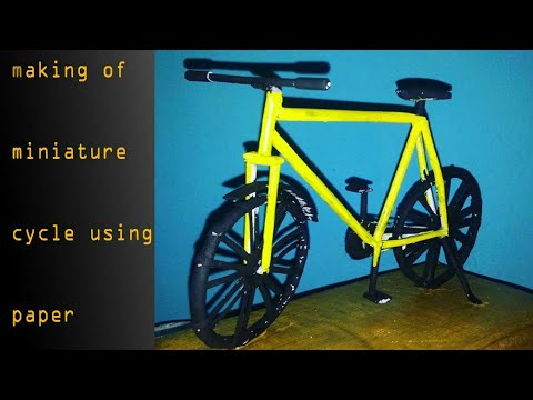 how to make a cycle using paper