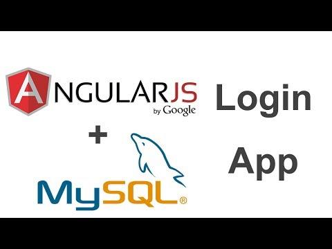 AngularJS + MySQL Login App - Part 1