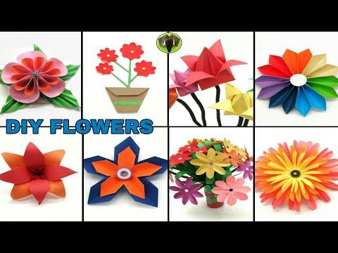 40 Beautiful Flower Crafting Ideas - DIY Tutorial - 895