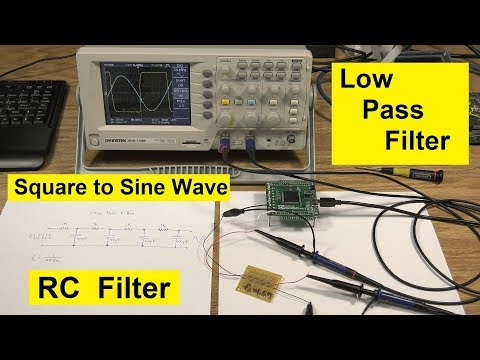 Low Pass Filter Demo using Cascaded RC Filters - Square to Sine Wave Converter