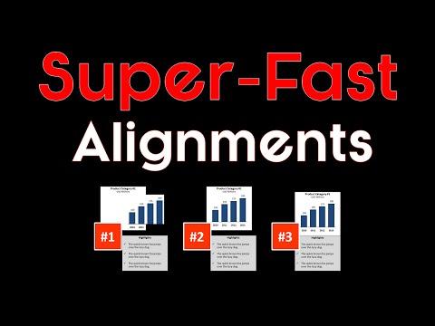 Align Objects in PowerPoint Shortcut