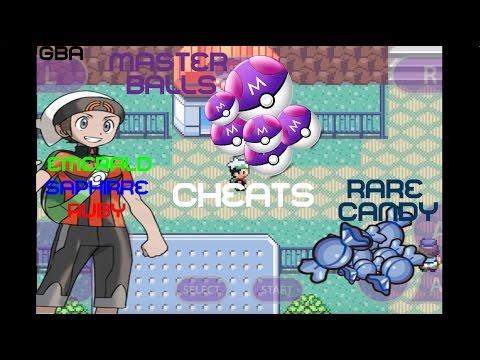Cheat de Rare candy ( Doce Raro ) e Master balls   Pokemon Emerald