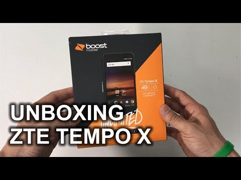 Unboxing and Quick Specs Review of the ZTE Tempo X