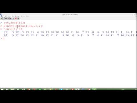 10- Simulating Random Numbers from Binomial Distribution using  R