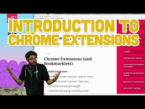 11.1: Introduction to Chrome Extensions - Programming with Text