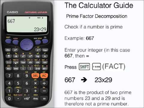 Prime Factors - Show A Number Is Prime - Prime Factorization - Casio Calculator fx-85GT PLUS fx-83GT