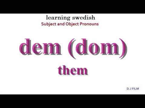 Learning Swedish (Lesson 3)