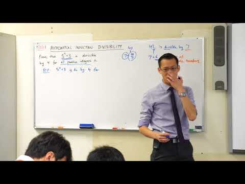 Mathematical Induction - Proving Divisibility by 4 (1 of 2: Test and assumption)