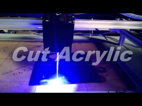 5w diode  laser cutting mechine test