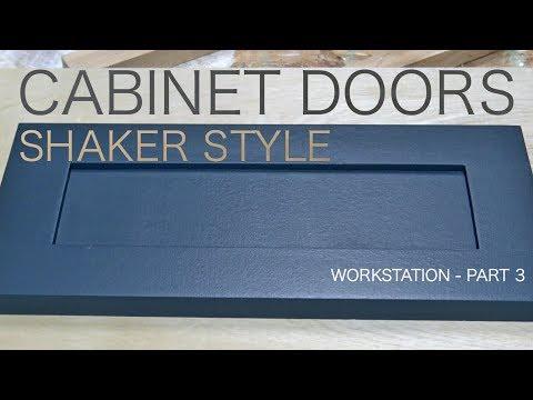 Building Simple Shaker Style Cabinet Doors - Desk Build Part 3