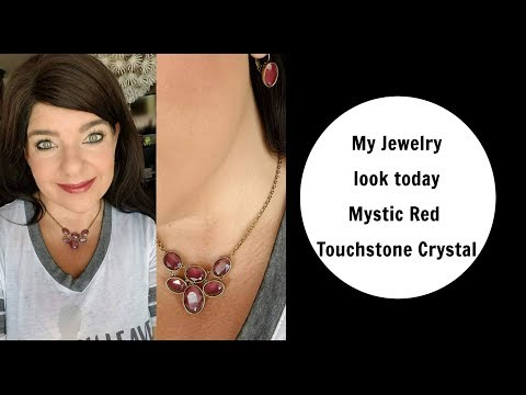 My Jewelry look today Mystic Red by Touchstone Crystal