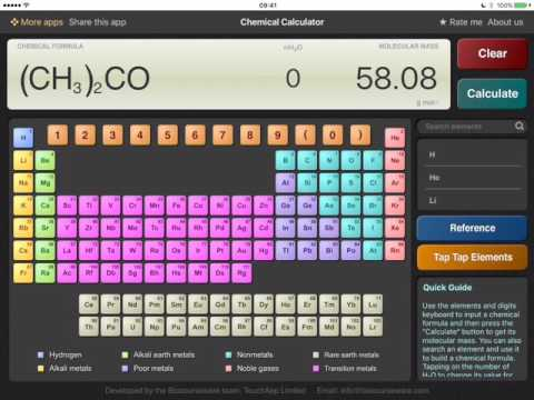 ChemCalc for iPad Preview