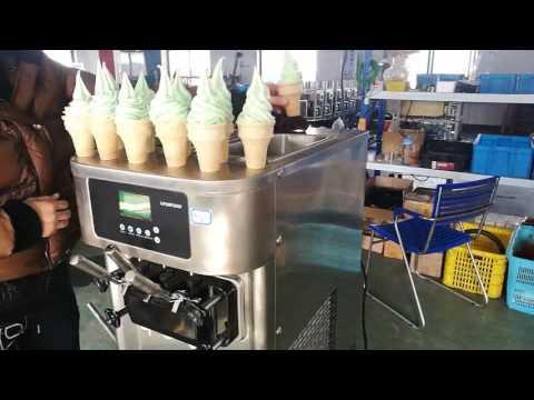 Unisnow ice cream machine RB1119A countertop 3 flavors frozen yogurt slush machine