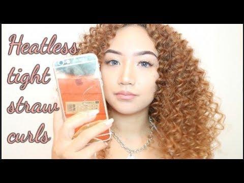 Heatless tight straw curls tutorial updated/shorter version | ELLENA ROSE ANNE