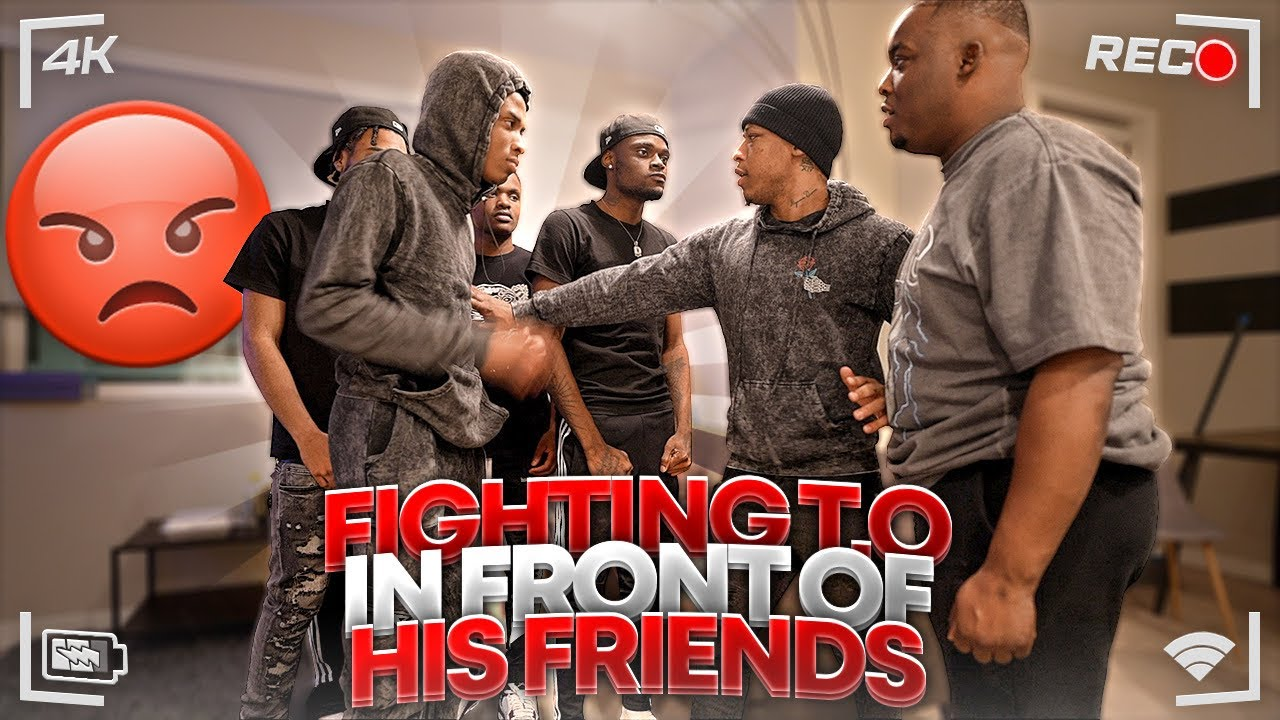 I Tried To FIGHT T.O In Front Of His HOOD FRIENDS To See What They'll Do . . . | Loyalty Test