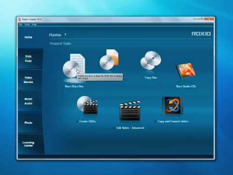 Getting Started with Roxio Creator 2010