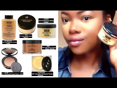Top 6 Drugstore/ Affordable Setting/Translucent Powders For Dark Skin (WOC)