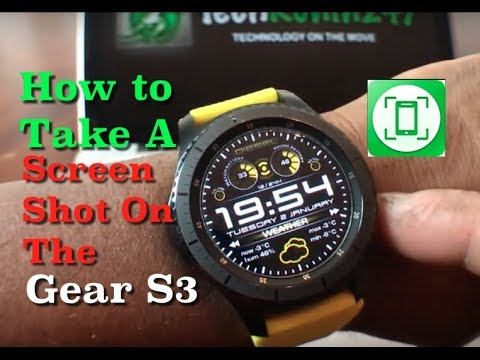 How To Take A Screenshot With The Gear S3
