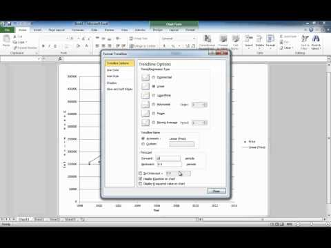 Microsoft Excel Lesson 3 - How to draw a scatter plot and line graph in Excel