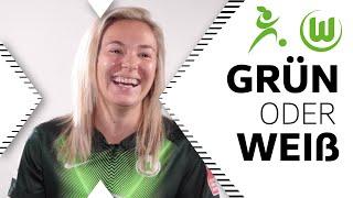 Chips oder Schokolade? | Zsanett Jakabfi in Grün oder Weiß | VfL Wolfsburg Frauen