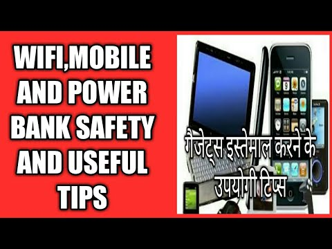 Mobile,power bank and wifi signal