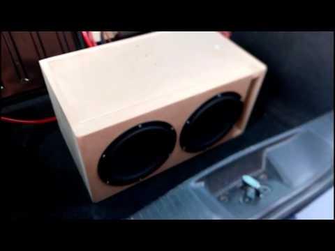 DIY Home building dual 8 inch Peerless SQ Subwoofers