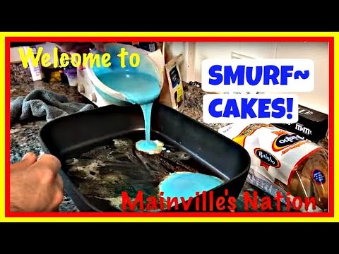 DADDY MADE SMURF-CAKES FOR BREAKFAST!