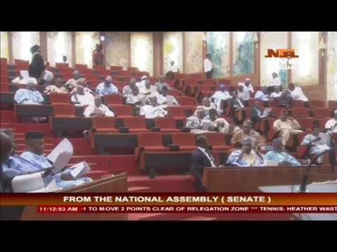#Live from Nigeria House of Assembly: Senate on CJN Screening
