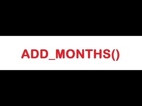 ADD_MONTHS Function in SQL Query with Example