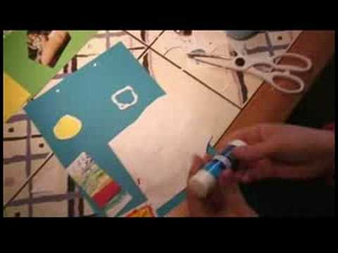 How to Make a Personalized Calendar : How to Make a Calendar: Gluing Paper Together