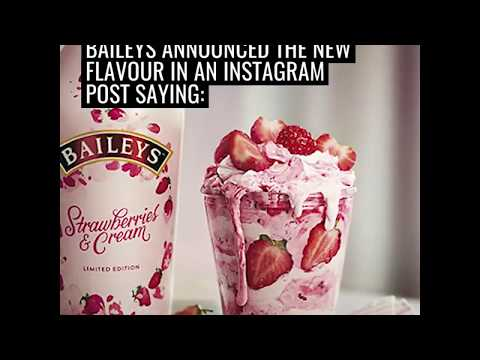 Bailey's strawberries and cream flavour for Valentine's day