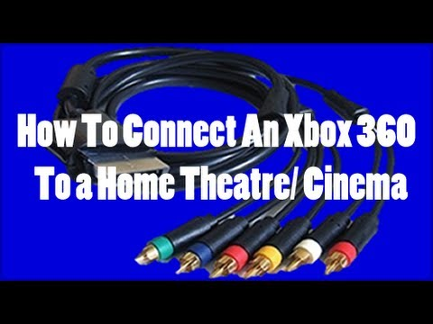 How To Connect An Xbox 360 With Surround Sound Using a YPbPr Cable HQ