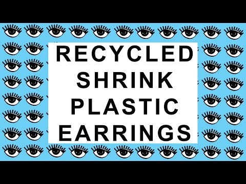 WHATDAYMADE DIY: Recycled Shrink Plastic Earrings