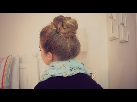 Quick & Easy Messy Bun | Long Hair | School, Work, etc.