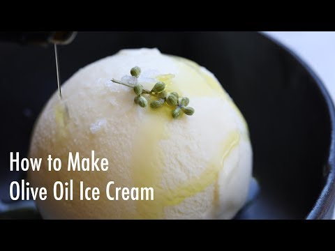 How to Make Olive Oil Ice Cream | Easy Step-by-Step Video Tutorial with Recipe