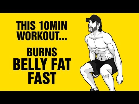 Lose Belly Fat Fast With This 10min Workout - Just 4 Exercises