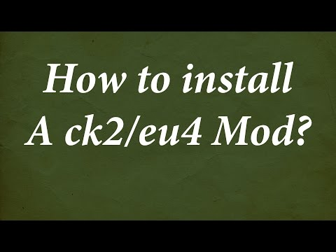 How to install a mod for EU4 and CK2